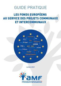 Les fonds européens au service des projets communaux et intercommunaux