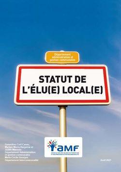 Statut de l'élu(e) local(e)