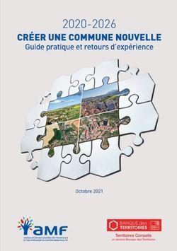 Guide pratique : créer une commune nouvelle