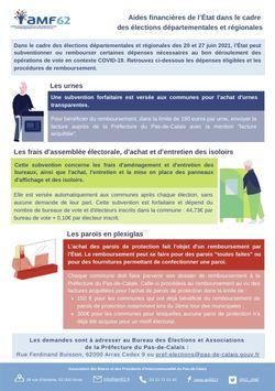 Infographie : remboursement du matériel pour l'organisation des élections